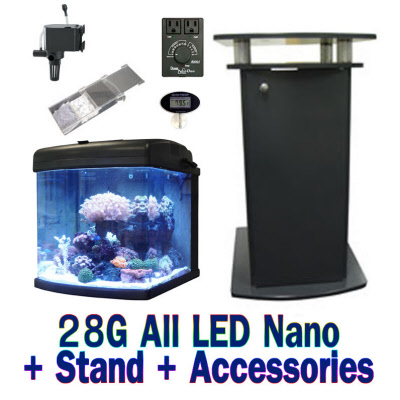 28 Gallon Nano Cube Professional Led Aquarium 1000
